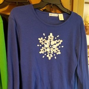Rebecca Malone Ribbon Snowflake Long Sleeve Medium